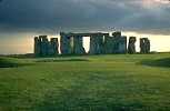 Stonehenge with rain-cloud