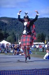 Scottish Highland dancer performing Sword Dance at Highland Games