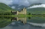 Kilchurn Castle with reflections in Loch Awe, Scotland