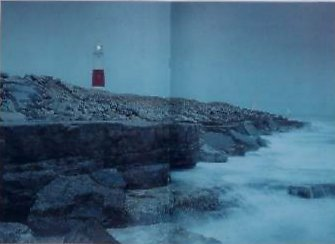 Portland Bill lighthouse double page spread